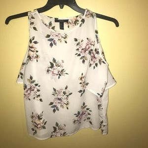 White top with flowers